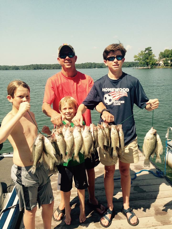 Chad Miller's clients holding some nice Lake Martin crappie