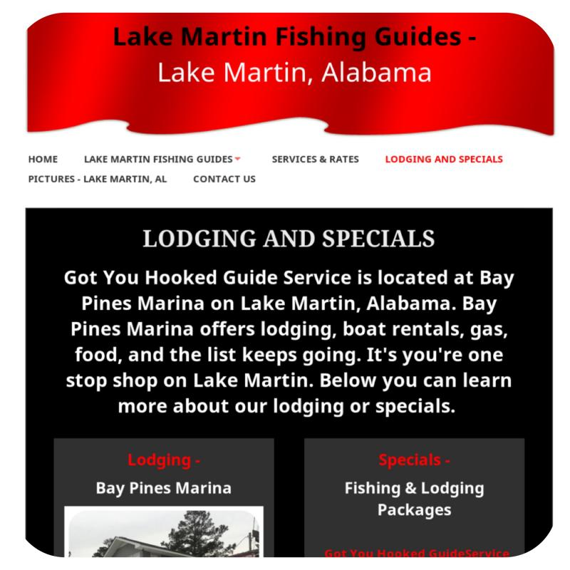 Lake Martin Fishing Guides Lodging And Specials Link